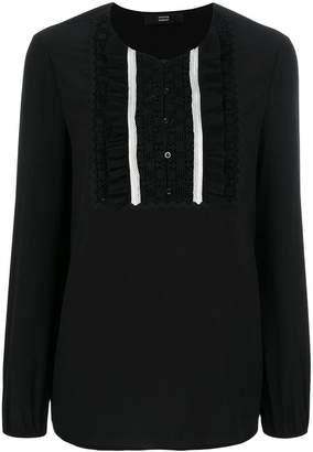Steffen Schraut lace bib blouse