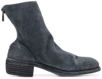 Guidi reverse back zip boots