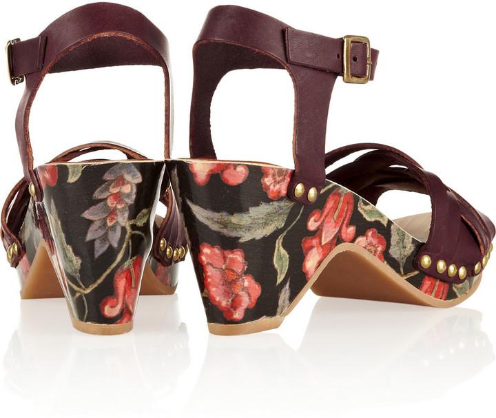 Isabel Marant Bianca floral-print leather sandals
