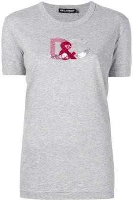 Dolce & Gabbana sequin logo T-shirt