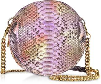 Ghibli Lilac Python Round Crossbody Bag