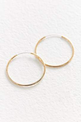 Urban Outfitters 18k Gold + Sterling Silver Plated Small Hoop Earring