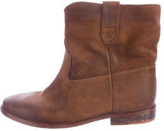 Isabel MarantIsabel Marant Suede Round-Toe Ankle Boots