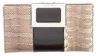 Roger Vivier Snakeskin & Leather Clutch