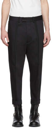 Diesel Black Gold Black Raised Seam Trousers