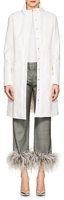 Lisa Perry Women's Coated Cotton-Blend Long Raincoat