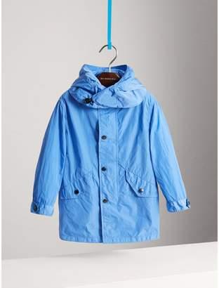 Burberry Detachable Hood Lightweight Parka Coat