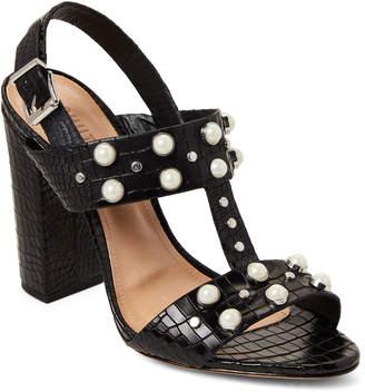 Schutz Black Zarita Embellished Slingback Sandals