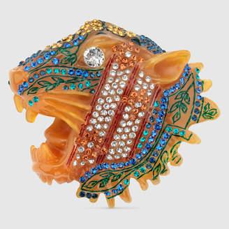 Gucci Rajah brooch with ivy motif