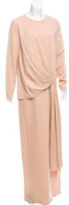 Lanvin Draped Evening Dress w/ Tags