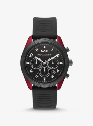 Michael Kors Oversized Keaton Coated Stainless Steel and Silicone Watch