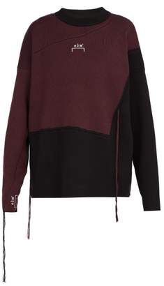 A-Cold-Wall* A Cold Wall* Colour Block Wool Sweater - Mens - Black Multi