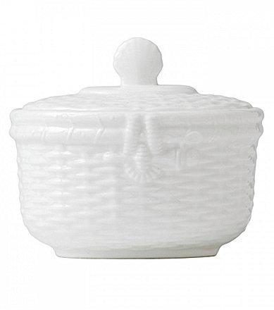 WedgwoodWedgwood Nantucket Basket Sculpted Bone China Sugar Bowl with Lid