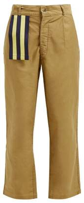 BEIGE Myar - Itp9a Cotton Twill Wide Leg Trousers - Womens