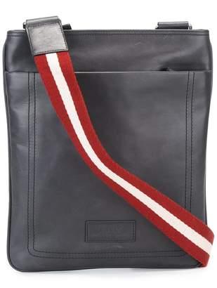 Bally striped shoulder strap messenger bag