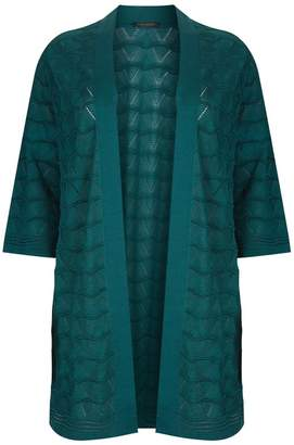 Marina Rinaldi Geometric Knit Cardigan