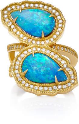 Sara Weinstock 18K Gold, Opal And Diamond Ring