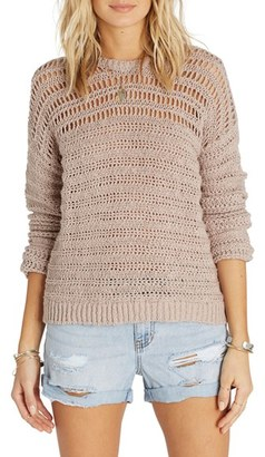 Billabong Don't Look Back Mixed Stitch Pullover $64.95 thestylecure.com