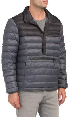 Down Filled Puffer Pop Over Jacket