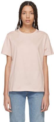 Moncler Pink Crewneck T-Shirt