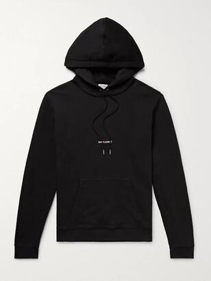 Saint Laurent Logo-Print Loopback Cotton-Jersey Hoodie - Men - Black