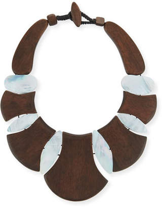 Viktoria Hayman Bellisima Wood Necklace