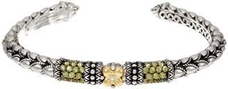 Barbara Bixby Sterling & 18K Pave Gemstone Cuff Bracelet