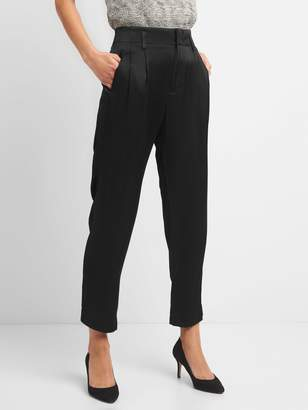 Gap Pleated Trousers in Satin