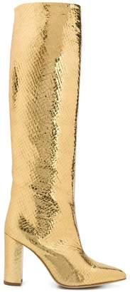 Paris Texas metallic knee-high boots