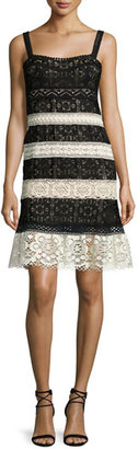Nanette Lepore Sleeveless Lace Striped Dress $398 thestylecure.com