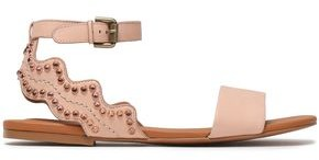 See by Chloe Crystal-embellished Scalloped Leather Sandals