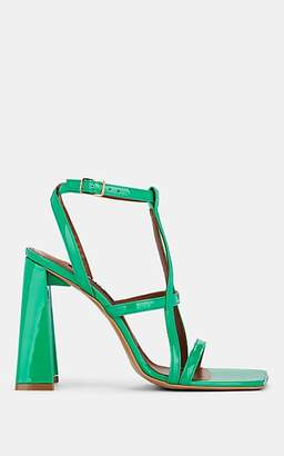 Area Women's Leather Sandals - Green