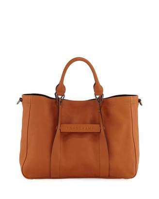 Longchamp 3D Medium Leather Tote Bag