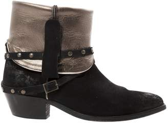 Swildens Black Suede Ankle boots