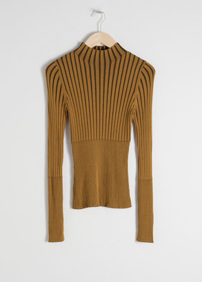 And other stories Fitted Ribbed Turtleneck