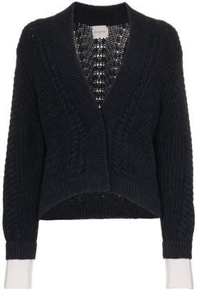 Le Kasha France cropped cable knit cardigan