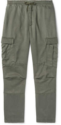 Tapered Garment-Dyed Lyocell Cargo Trousers