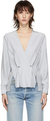 Rag & Bone Grey Debbie Blouse