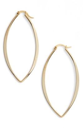 Women's Jules Smith Gamma Hoop Earrings $50 thestylecure.com