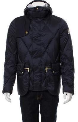 Moncler Gamme Bleu Hooded Puffer Coat