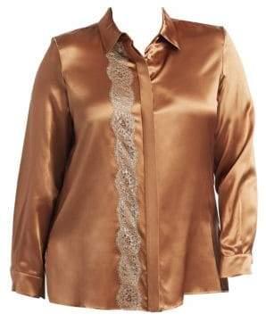 Marina Rinaldi Marina Rinaldi, Plus Size Bengala Silk Satin Blouse