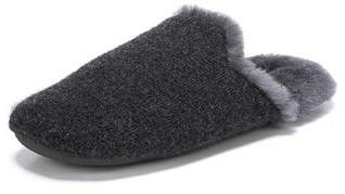 Vince Cadie Flat Slippers with Fur Trim