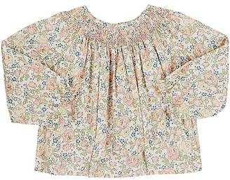 Bonpoint Smocked-Neck Floral Cotton Swing Blouse $180 thestylecure.com