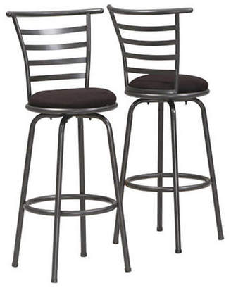Monarch Set of Two Ladder-Back Swivel Barstools