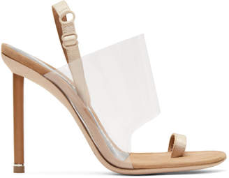 Alexander Wang Tan Suede Kaia Sandals
