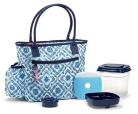 Fit & Fresh Atwater Lunch Bag Kit with Deluxe Salad Set