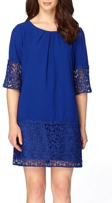 Women's Tahari Crepe & Lace Shift Dress $138 thestylecure.com