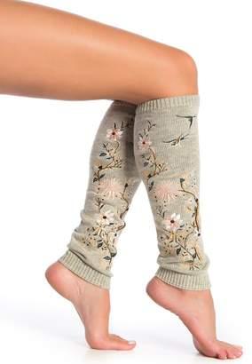 Natori Monotones Embroidered Leg Warmers