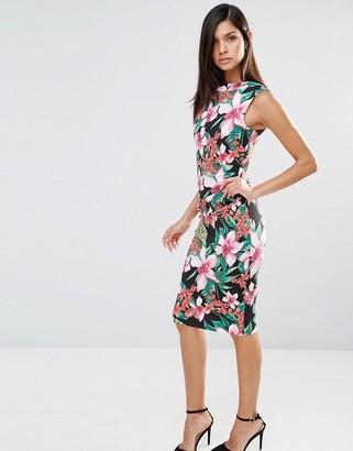 Vesper Sleeveless Tropical Print Pencil Dress $53 thestylecure.com