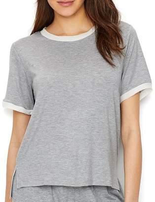 Flora Nikrooz Chiffon Trimmed Modal Pajama Top